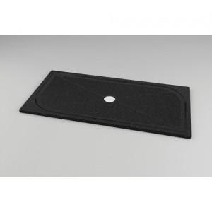 poza Cadita de dus rectangulara negru granit SanSwiss model Marblemate